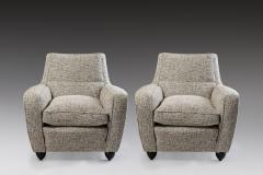 Pair of Black and White Armchairs Italy Late 1940s - 1981254