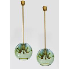 Pair of Blown Murano Glass Lanterns Italy 1970s - 1945491
