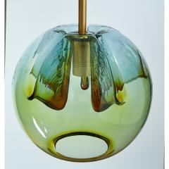 Pair of Blown Murano Glass Lanterns Italy 1970s - 1945510