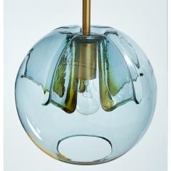 Pair of Blue Glass Pendant Lanterns - 1633619