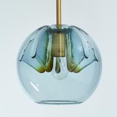 Pair of Blue Glass Pendant Lanterns - 1633621