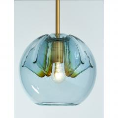 Pair of Blue Glass Pendant Lanterns - 1633622