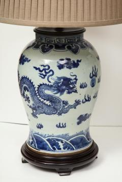 Pair of Blue and White Chinese Export Lamps - 1312645