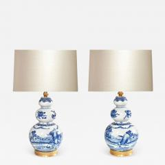 Pair of Blue and White Porcelain Lamps - 1902018