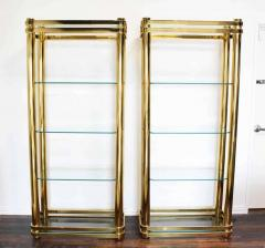 Pair of Brass Finish Etageres Attributed to Mastercraft - 1264505