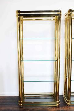 Pair of Brass Finish Etageres Attributed to Mastercraft - 1264507