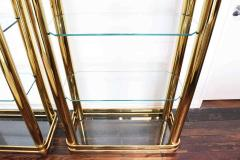 Pair of Brass Finish Etageres Attributed to Mastercraft - 1264508
