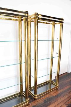 Pair of Brass Finish Etageres Attributed to Mastercraft - 1264510