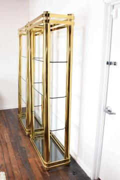 Pair of Brass Finish Etageres Attributed to Mastercraft - 1264513