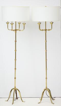Pair of Brass Floor Lamps - 1300984