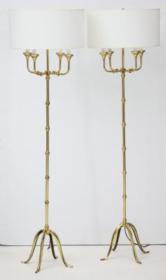 Pair of Brass Floor Lamps - 1300996