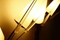 Pair of Brass Glass and Lucite Wall Sconces in the Style of Maison Arlus 1950s - 879980
