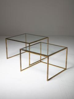 Pair of Brass Nesting Tables - 1037311