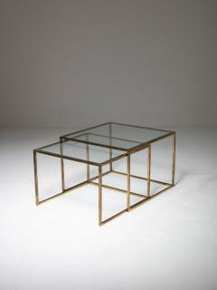 Pair of Brass Nesting Tables - 1037313