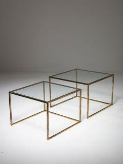 Pair of Brass Nesting Tables - 1037314