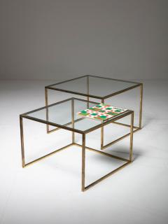 Pair of Brass Nesting Tables - 1037315