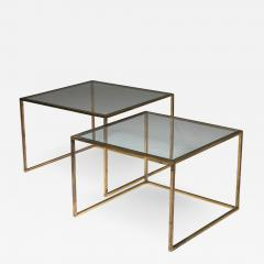 Pair of Brass Nesting Tables - 1039643