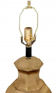 Pair of Brass Table Lamps with Ebony Bases - 192963