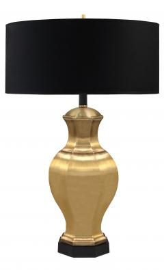 Pair of Brass Table Lamps with Ebony Bases - 192965