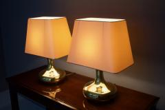 Pair of Brass Tulip Table Lamps 1970s - 1169413