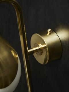 Pair of Brass and Glass Globe Wall Sconces - 1927605