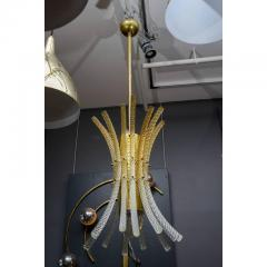 Pair of Brass and Murano Glass Rods Pendants - 736047