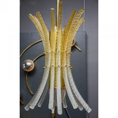 Pair of Brass and Murano Glass Rods Pendants - 736051