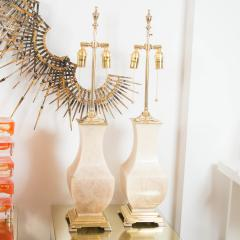Pair of Brass and Onyx Table Lamps - 70237