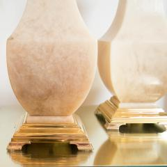 Pair of Brass and Onyx Table Lamps - 70239
