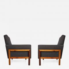 Wood Lounge Chairs pair of brazilian baruna wood lounge chairs, circa 1960