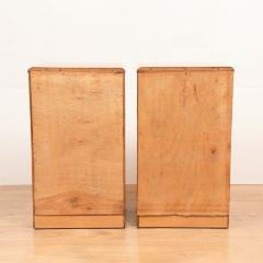 Pair of British Art Deco Maple Bedside Cabinets c 1930 - 1744403