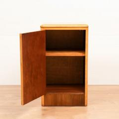Pair of British Art Deco Maple Bedside Cabinets c 1930 - 1744404