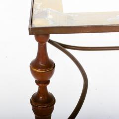 Pair of Bronze Arturo Pani Side Tables Mid Century Modern Hollywood Glam - 1357173