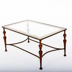 Pair of Bronze Arturo Pani Side Tables Mid Century Modern Hollywood Glam - 1357174