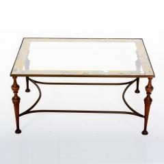 Pair of Bronze Arturo Pani Side Tables Mid Century Modern Hollywood Glam - 1357175