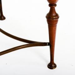 Pair of Bronze Arturo Pani Side Tables Mid Century Modern Hollywood Glam - 1357176