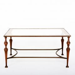 Pair of Bronze Arturo Pani Side Tables Mid Century Modern Hollywood Glam - 1357178