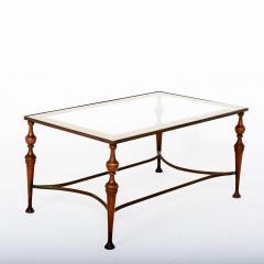 Pair of Bronze Arturo Pani Side Tables Mid Century Modern Hollywood Glam - 1357179