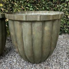 Pair of Bronze Fluted Planters - 1877453