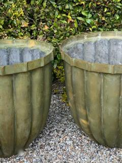Pair of Bronze Fluted Planters - 1877455