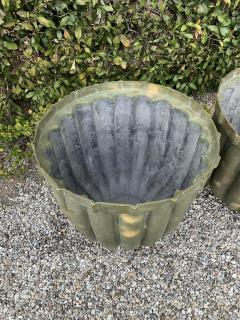 Pair of Bronze Fluted Planters - 1877456