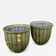 Pair of Bronze Fluted Planters - 1879875