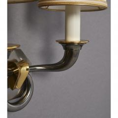 Pair of Bronze Sconces in Gunmetal Finish France 1950s - 1909245