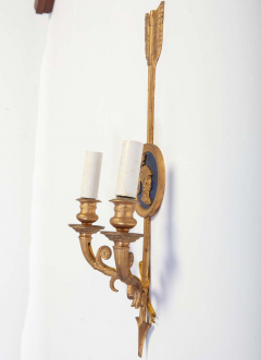 Pair of Bronze Two Light Neoclassical Wall Sconces - 1506503