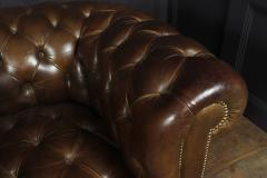 Pair of Brown Leather Chesterfield Club Chairs - 2027781