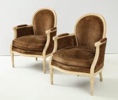 Pair of Brown Louis XVI Style Berg res - 1300059
