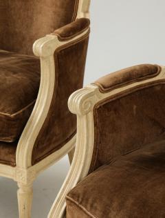 Pair of Brown Louis XVI Style Berg res - 1300062