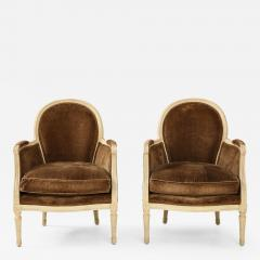 Pair of Brown Louis XVI Style Berg res - 1300797