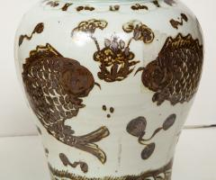 Pair of Brown and White Ginger Jars - 1312580