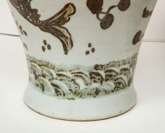 Pair of Brown and White Ginger Jars - 1312582